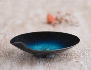 青オリベ釉 6寸鉢