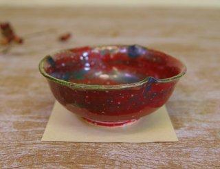 紅 輪花小鉢