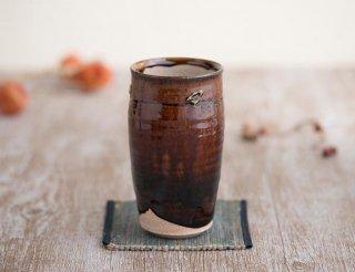 紫香楽物語・源ー琥珀釉ビアカップ