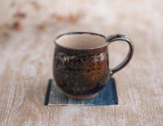 樽灰琥珀釉 マグカップ