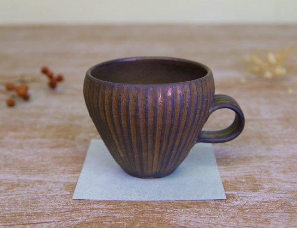 しのぎが美しいマグカップ craft―K \1,800 ブラウン