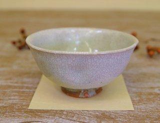 氷雪白 えくぼごはん茶碗