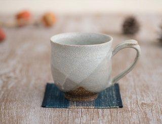 氷雪白 掛分マグカップ丸(大)