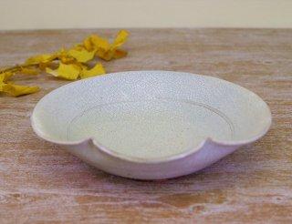 氷雪白  草紋9寸盛鉢