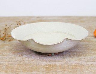 氷雪白  草紋7寸盛鉢