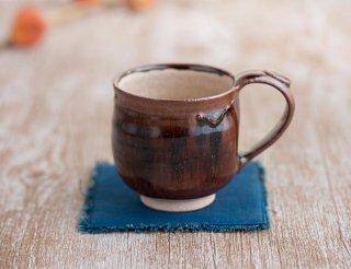 紫香楽物語 源−もみじ釉マグカップ