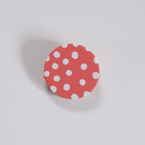 heaven rondo brooch dot レッド