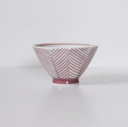波佐見焼 ORIME ヘリンボーン 茶碗  マロン