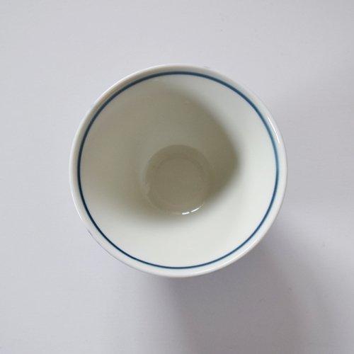 波佐見焼 ORIME ヘリンボーン 茶碗  ブルー