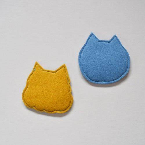 romper room Panke! フェルトコースター  ぶさひげセット(ブラウン&ブルー)