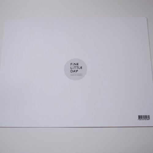 FINE LITTLE DAY GRAN  ラミネートテーブルマット ホワイトベース×ブラック