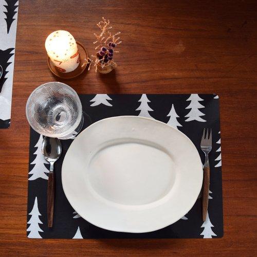 FINE LITTLE DAY GRAN ラミネートテーブルマット ブラックベース×ホワイト