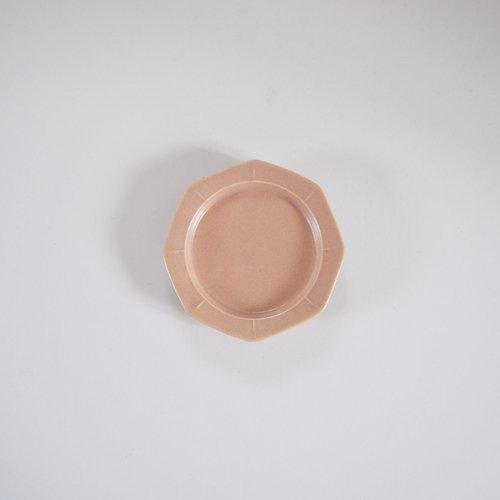 山下透 八角皿 9cm ピンクグレー