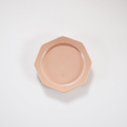 山下透 八角皿 12cm ピンクグレー