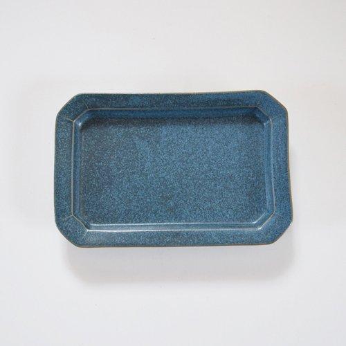 山下透 長方皿  インディゴ