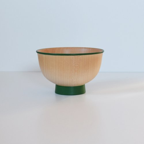 白鷺木工 いろは椀 カラフル 緑