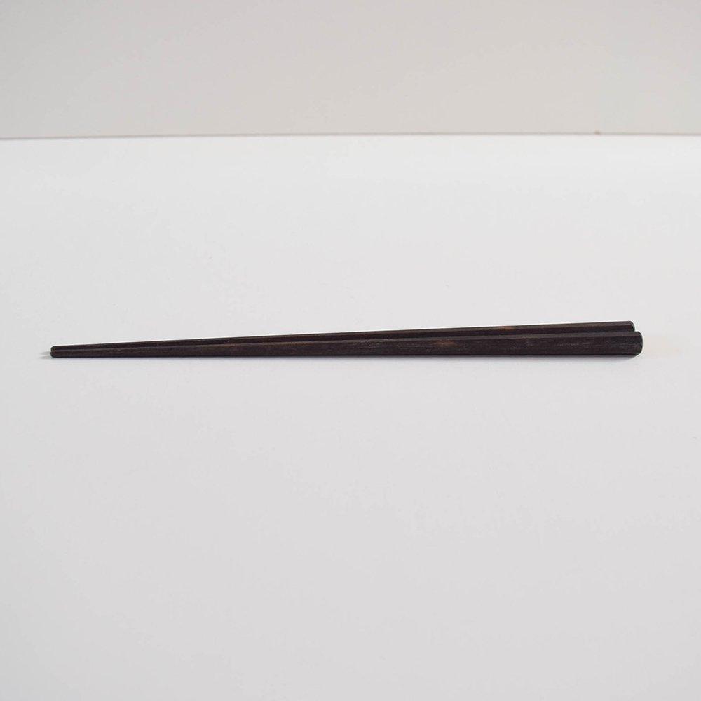 コバヤシユウジ 八角削り箸 黒檀
