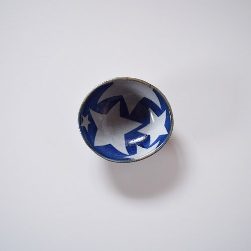 相澤かなえ 星の小鉢 青×白い星