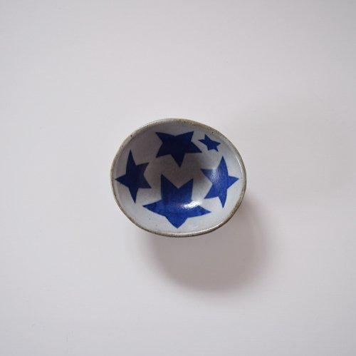 相澤かなえ 星の小鉢 白×青い星