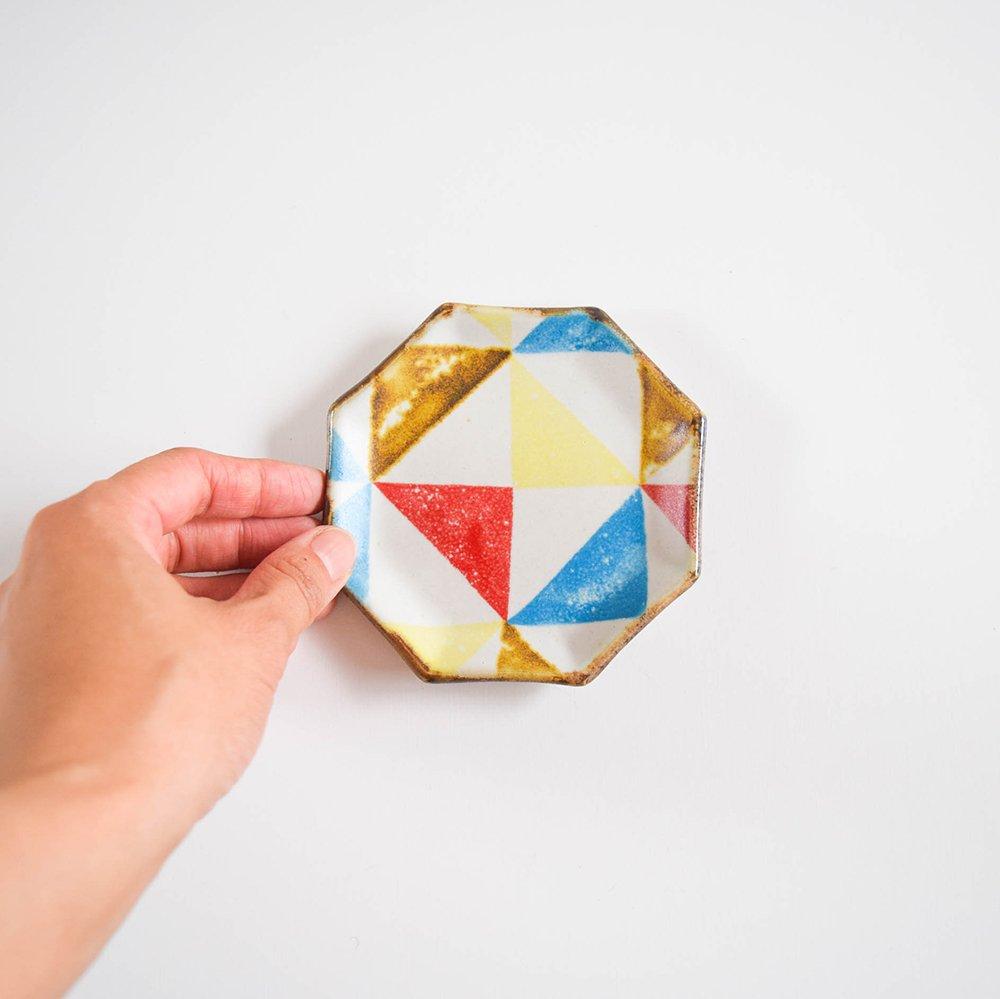 のん窯 八角皿 小 三角
