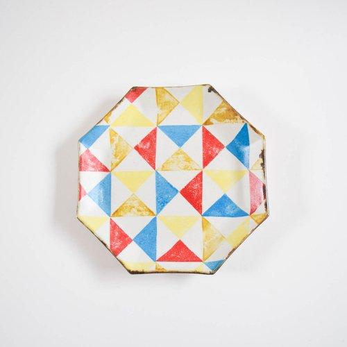 のん窯 八角皿 大 三角