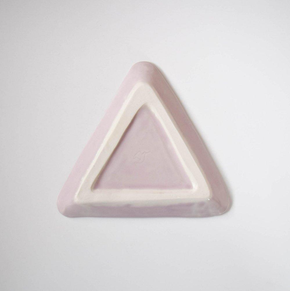 梶山友里 三角のプレート 藤色