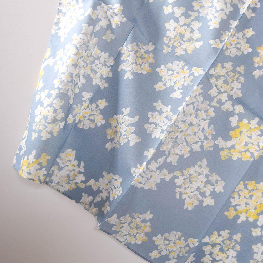 otsukiyumi  ハンカチ caraway blue gray