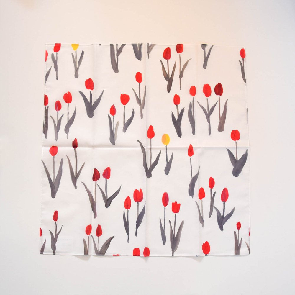 otsukiyumi  ハンカチ tulip red