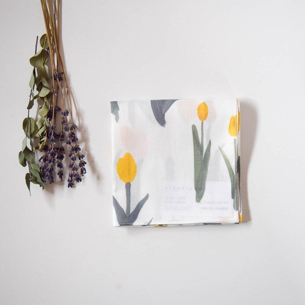 otsukiyumi  ハンカチ tulip yellow