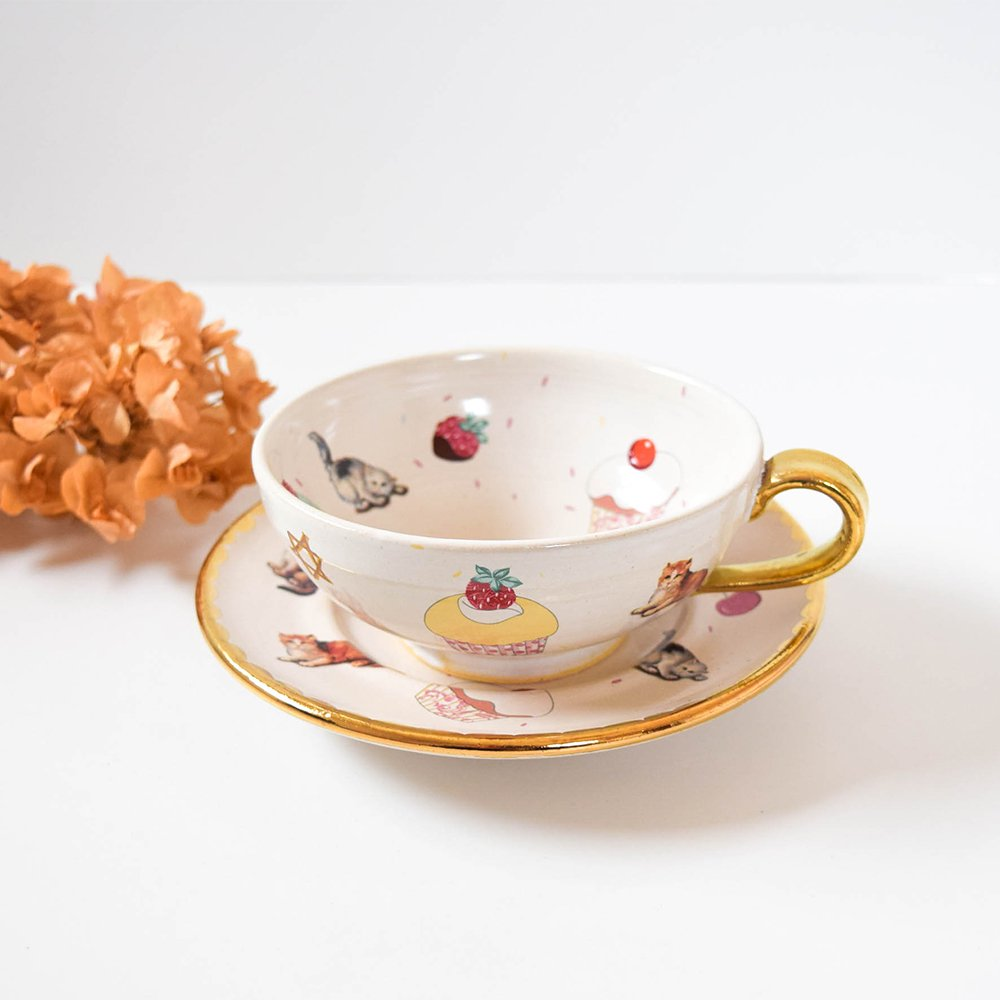 Hiruma Ikumi  midnight tea time カップ&ソーサー