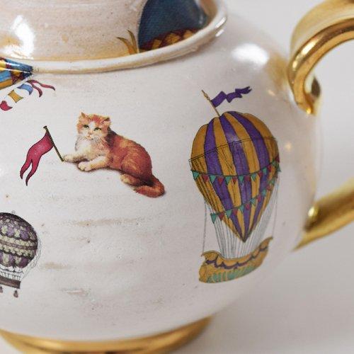 Hiruma Ikumi  猫と気球 ティーポット