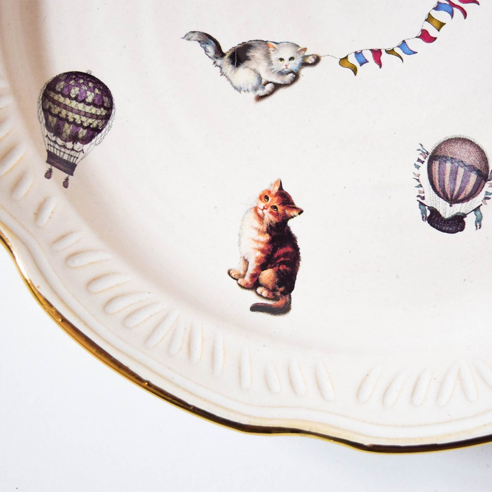 Hiruma Ikumi  猫と気球 プレート