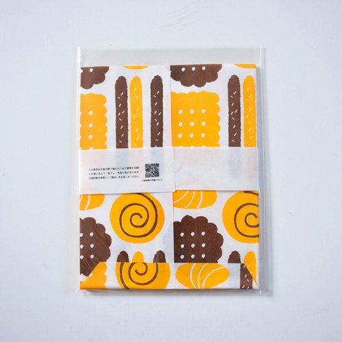 mameritsuko PAPER BAG  お菓子 ブラウンとオレンジ
