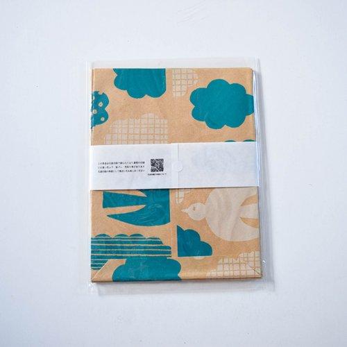 mameritsuko PAPER BAG 鳥と雲 ナチュラル