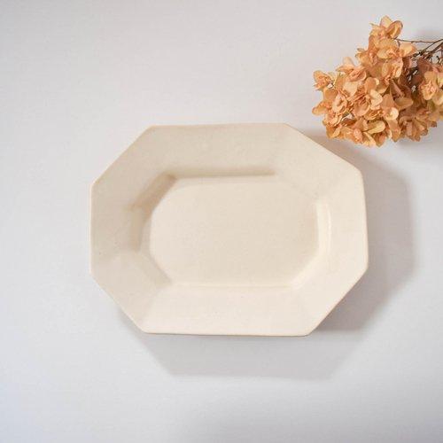 長浜由起子 八角皿 ホワイト