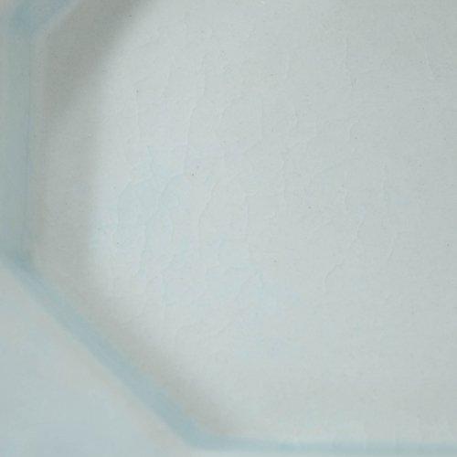 長浜由起子 八角皿 ペールブルー