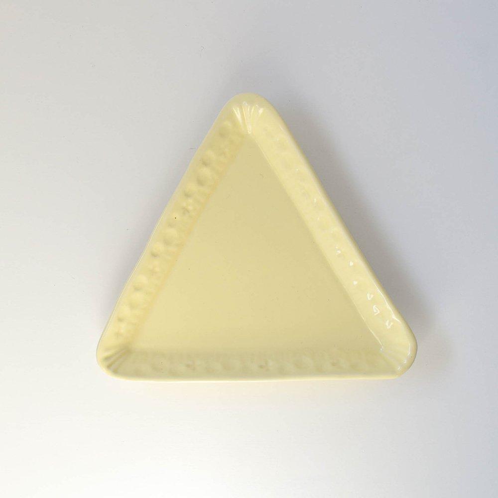 梶山友里 三角のプレート 黄色