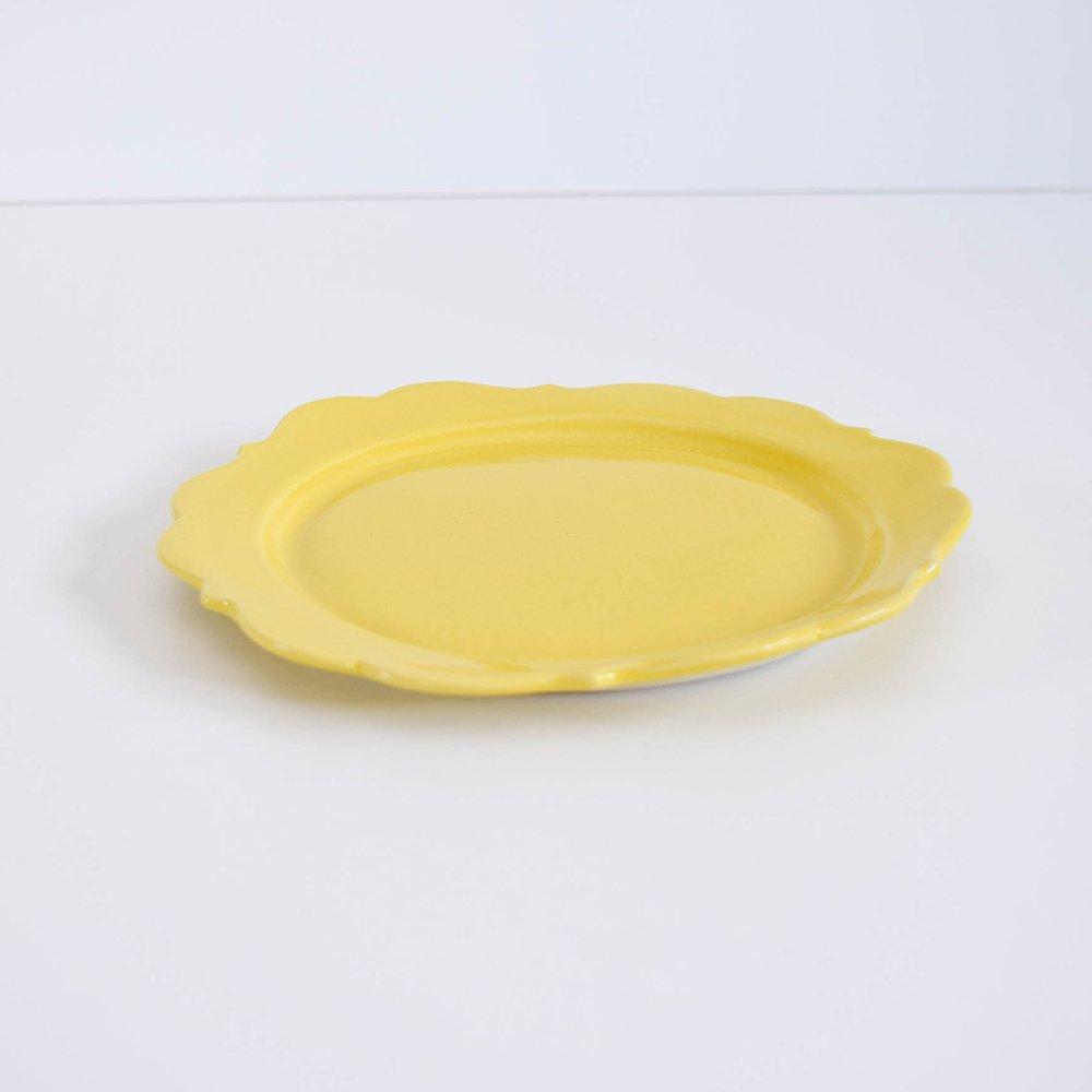アトリエ モノラー  洋風リム皿 黄色