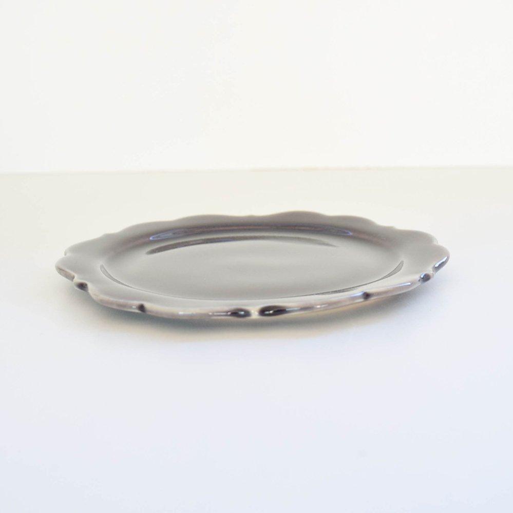 アトリエ モノラー  洋風リム皿 すみれ
