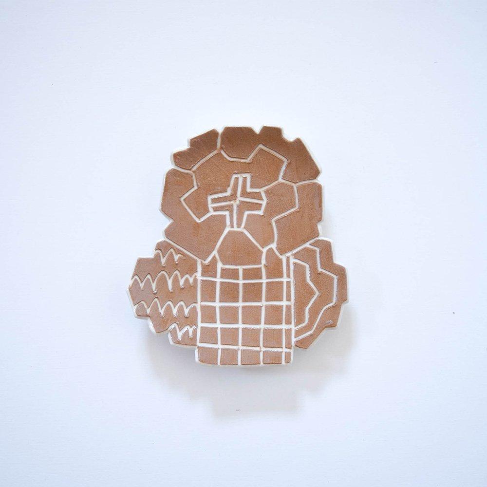 Atelier chie たんぽぽ皿 カフェオレ