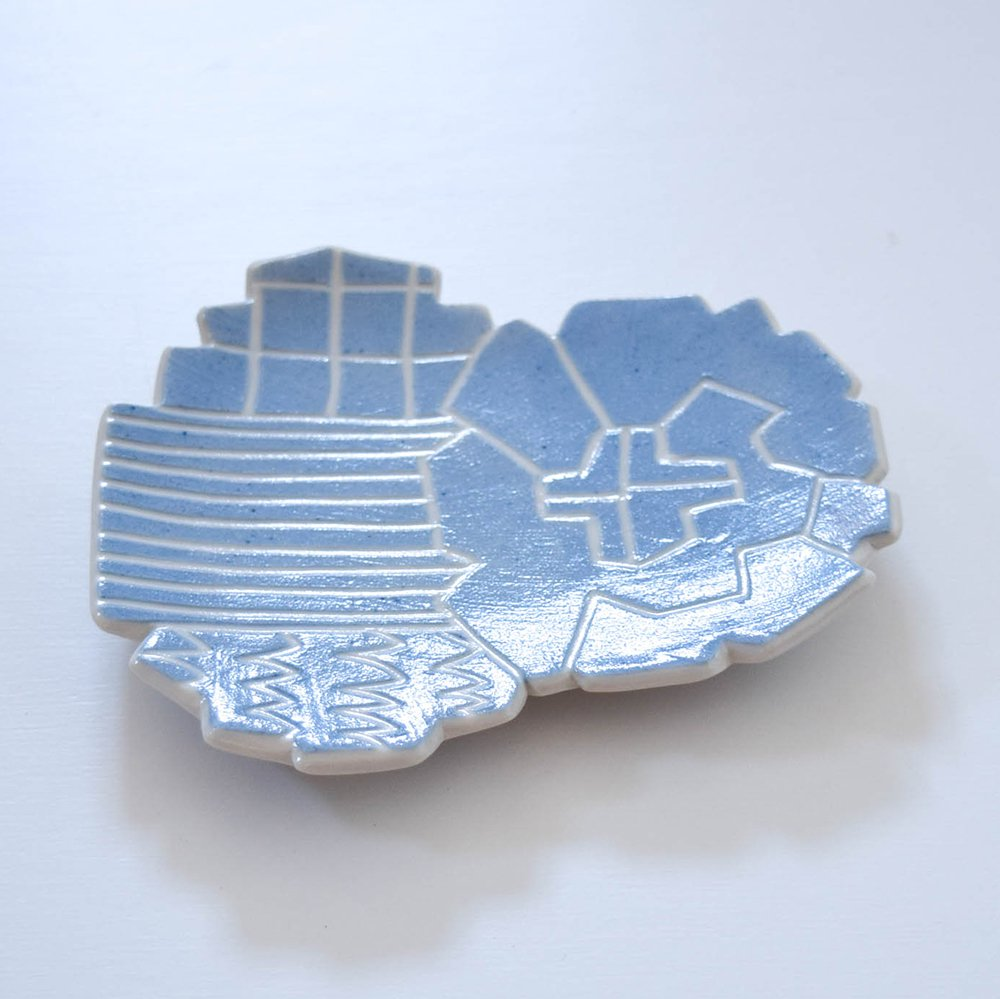 Atelier chie たんぽぽ皿 ライトブルー