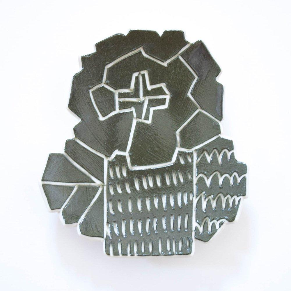 Atelier chie たんぽぽ皿 カーキ