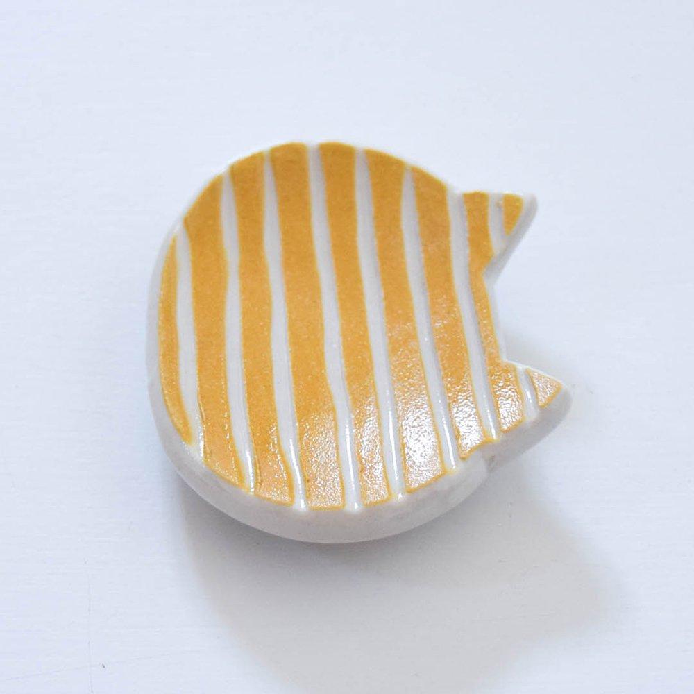 Atelier chie カトラリーレスト ねこ  イエローオレンジ