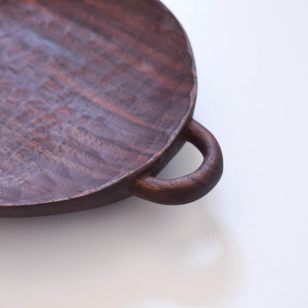 トトコ 持ち手付きのお皿 大サイズ  ブラックウォールナット