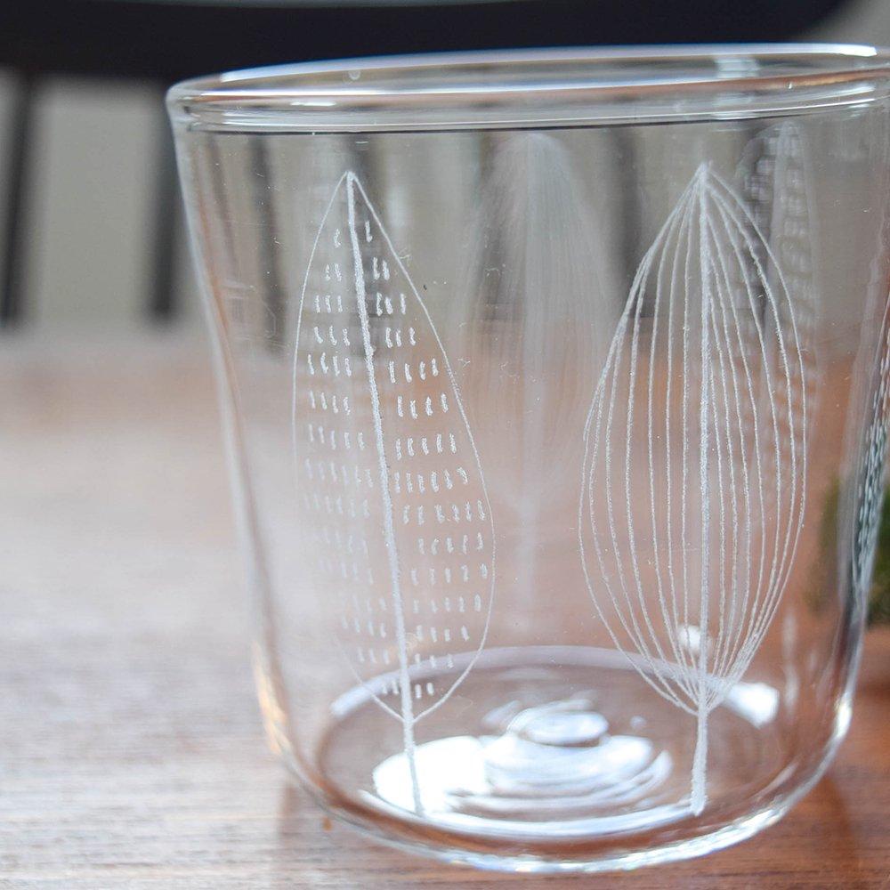 神澤麻紀 ガラスのコップ leaf