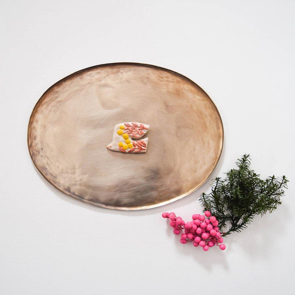 アルペジオ ブローチ 花鳥 ピンク