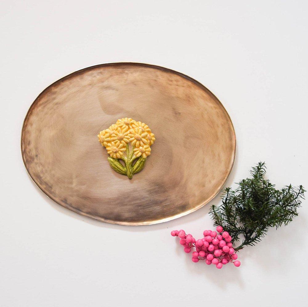 アルペジオ ブローチ サワオグルマ 黄色