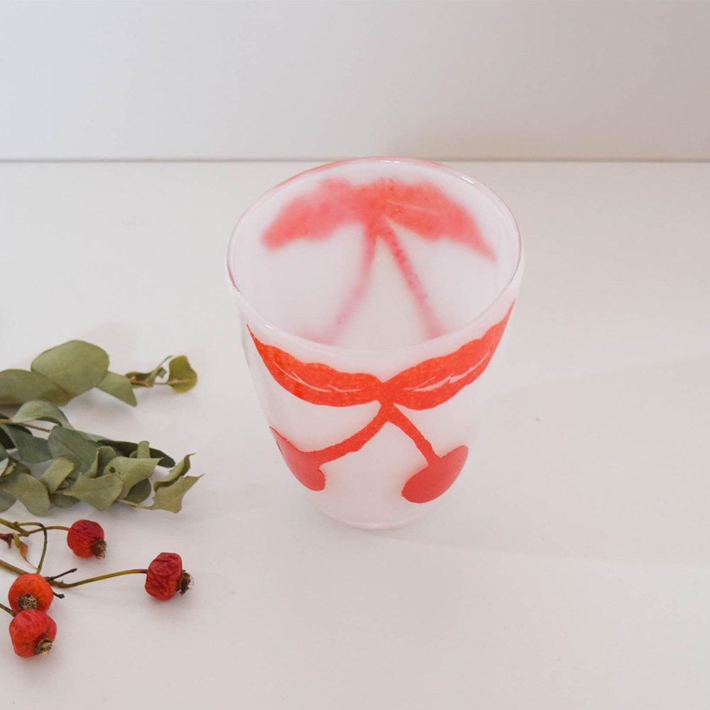 Tickle glass 「vivid glass 」  さくらんぼ