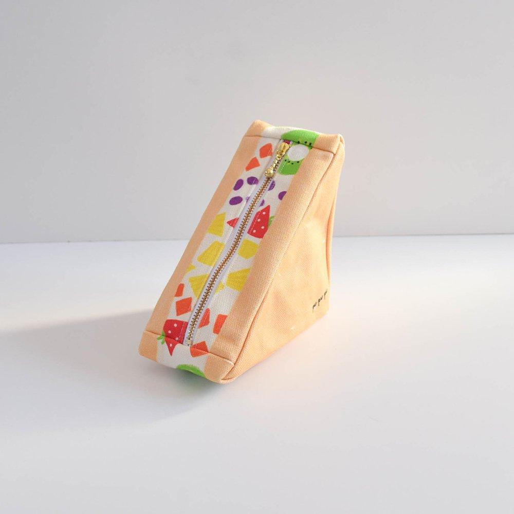 pu・pu・pu 三角のサンドイッチポーチ  フルーツサンド