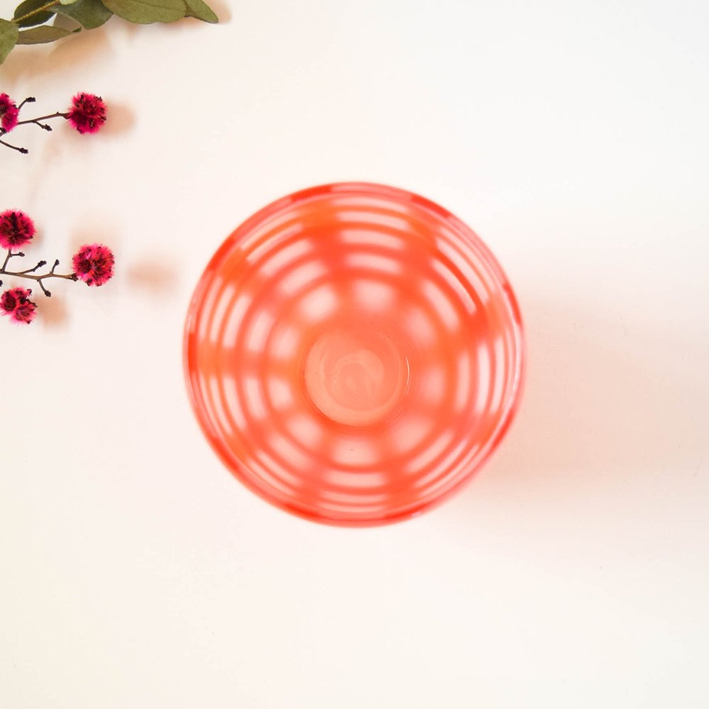 Tickle glass 「vivid glass 」  赤い格子